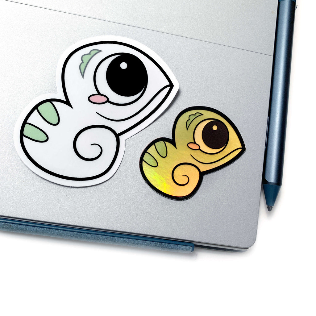 One in a Chameleon Sticker