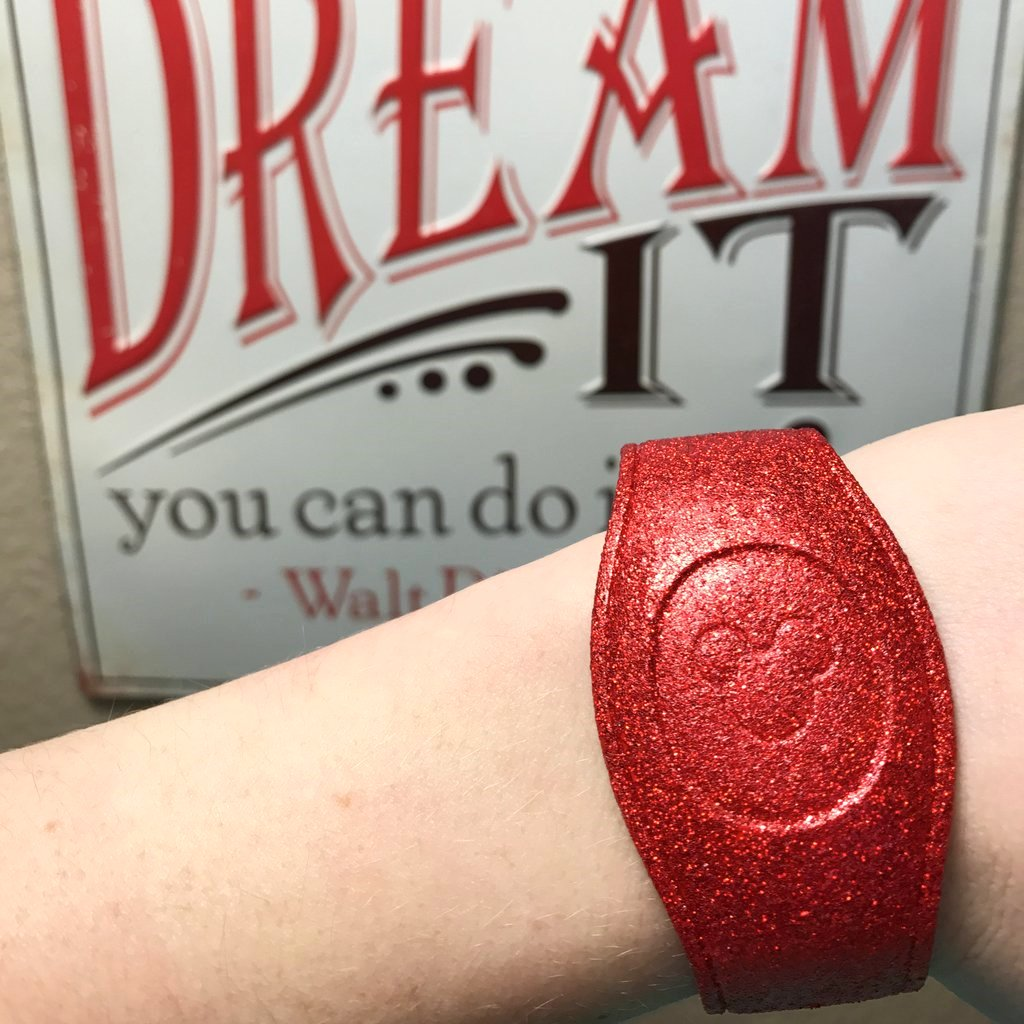 Red Glitter Magic Band/ Disney World