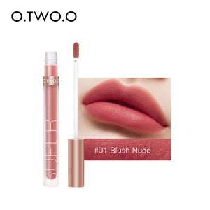 O.TWO.O Matte Velvet Liquid Lipstick Waterproof Rich Color Long Lasting Lips Makeup Lightweight Lip Gloss 12 Color