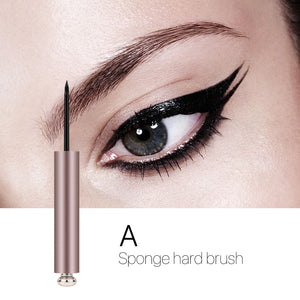 O.TWO.O Liquid Eye Liner Waterproof Ultra Fine Brush Head Long Lasting Quick Dry Natural Eyeliner Cosmetics