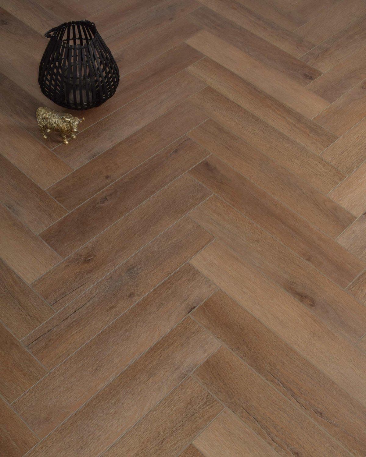 Underfoot Danube Herringbone Warm Oak