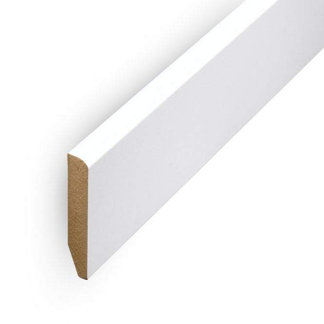 "4"" Pencil Round Skirting White Accessory"