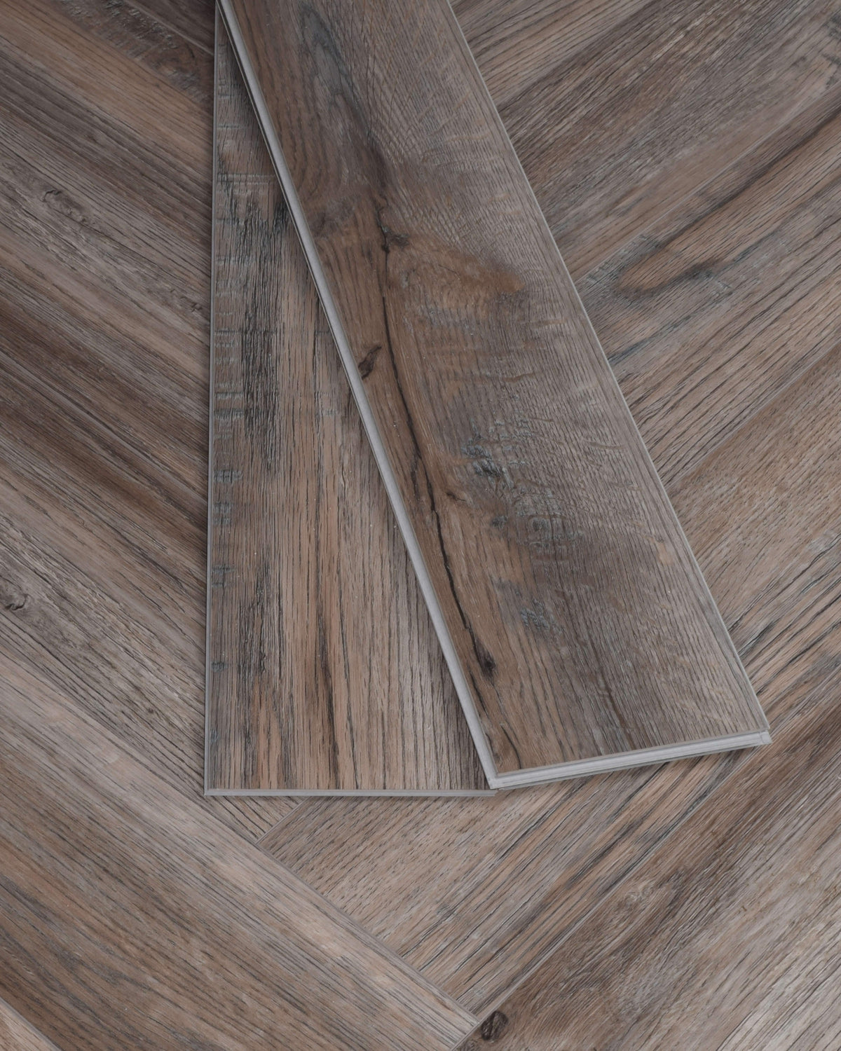 Underfoot Zambezi Weathered Oak Herringbone