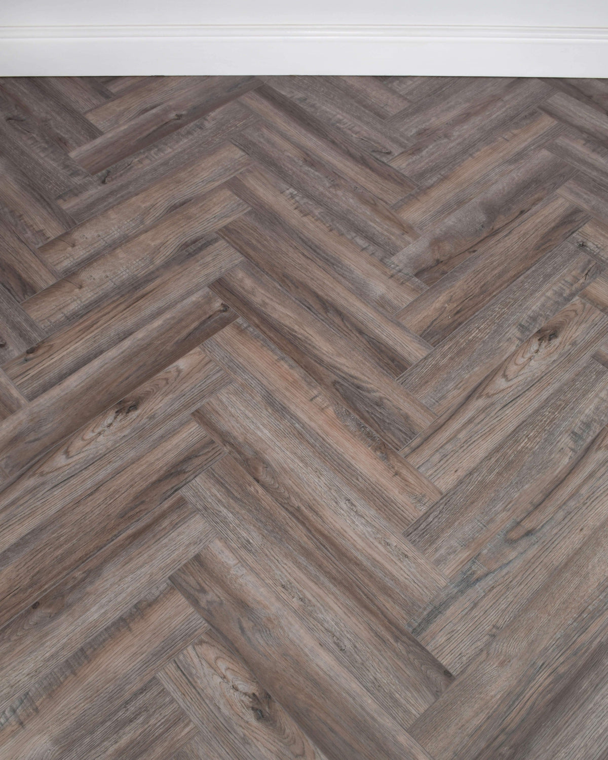 Underfoot Zambezi Weathered Oak Herringbone Sample
