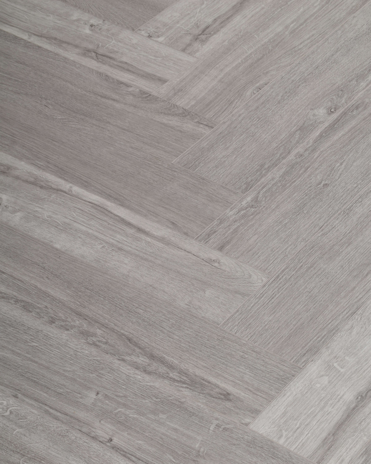 Underfoot Zambezi Silver Wood Herringbone Sample