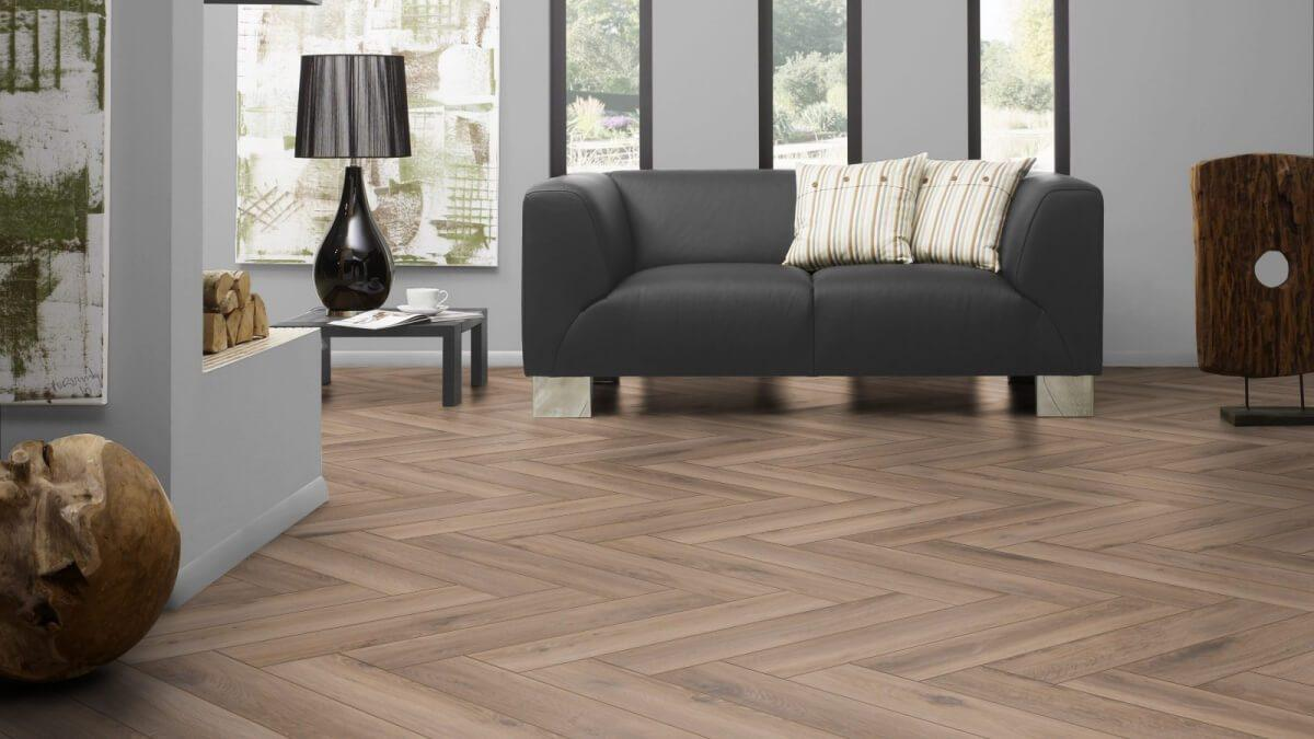 Underfoot Renoir Chestnut Brown Herringbone