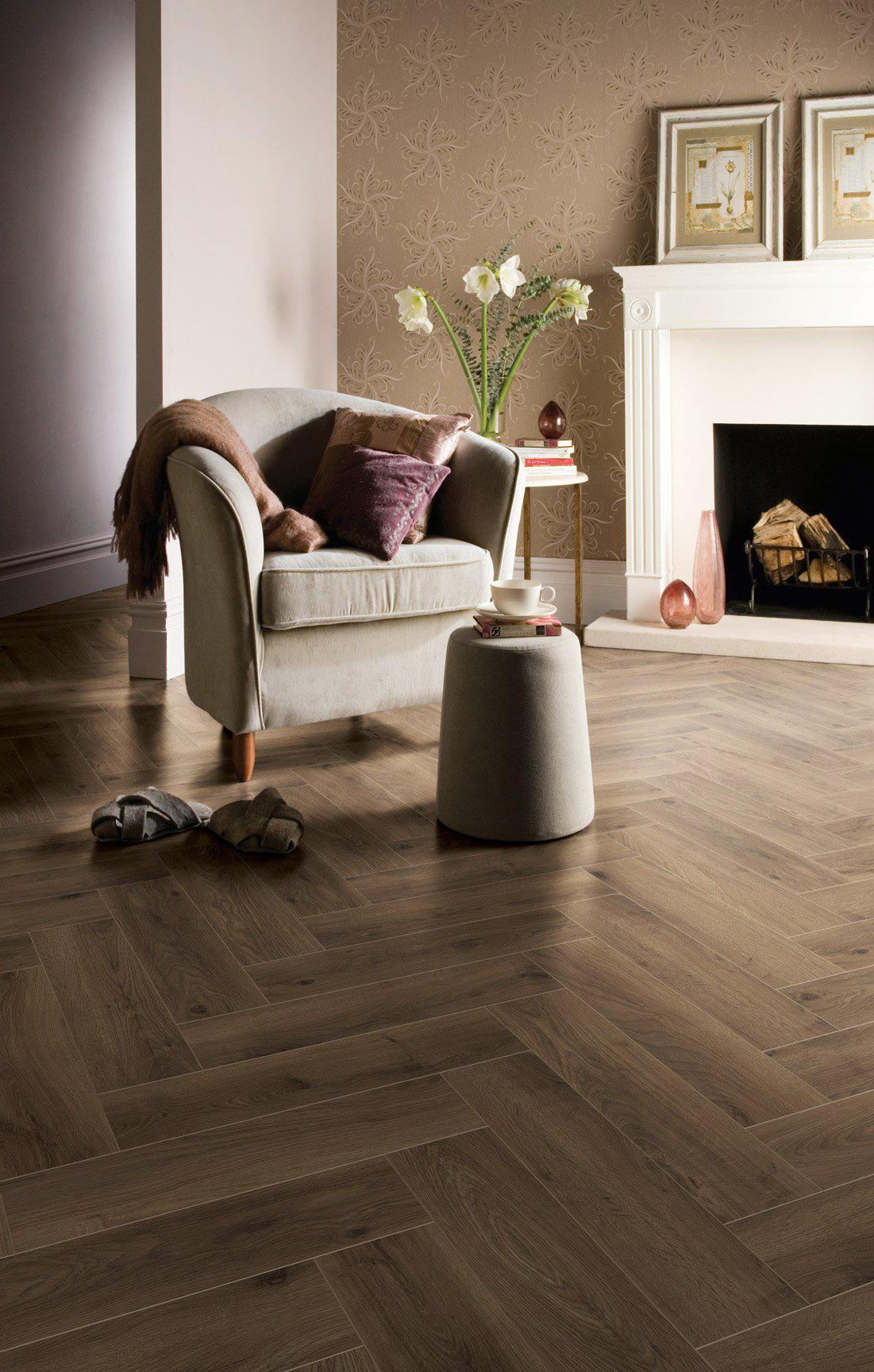 Underfoot Dali French Oak Herringbone