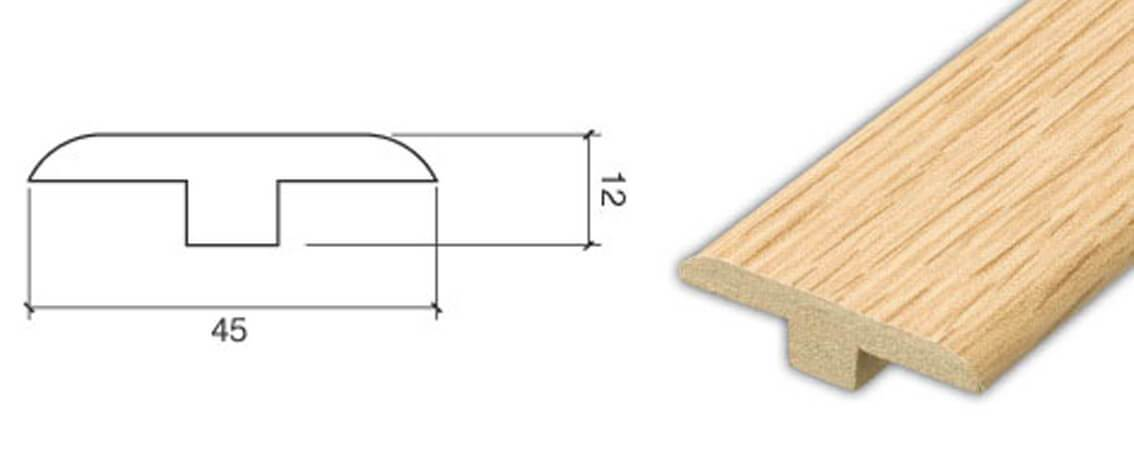 T-Section Door profile Matching (1m) Accessory