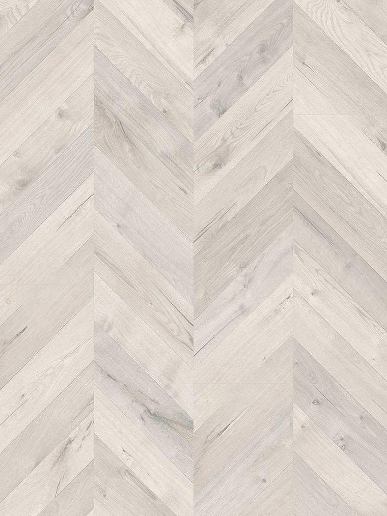 Underfoot Kusama Glacier Oak Cheveron Laminate