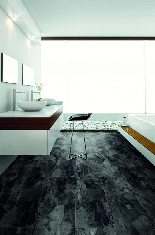 Underfoot Matisse Black Tile Laminate