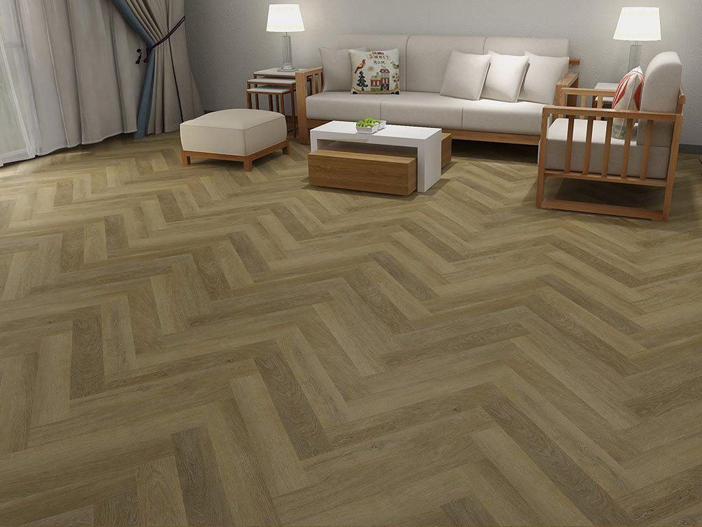 Underfoot Mekong Herringbone Natural Oak Sample