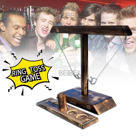 2 Players Wooden Ring Toss Party Game