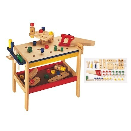 Exciting Wooden Tool Bench Toy