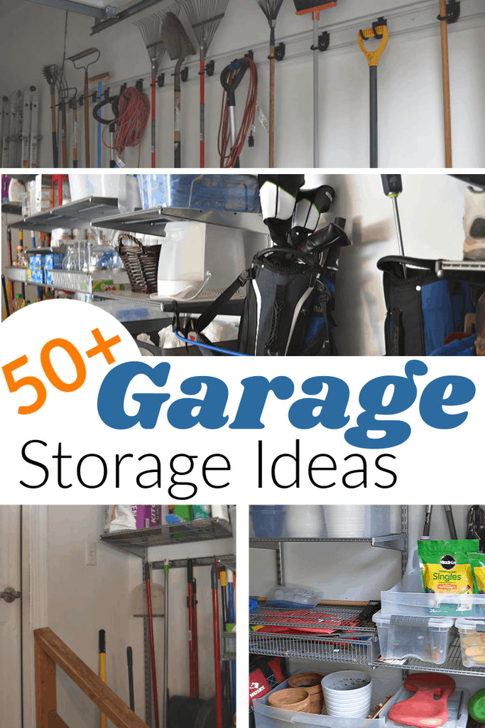 Do you know which garage storage ideas will work best for your space and needs? These more than 50 organizing tips, ideas and products will help you create an organized garage that will meet your unique needs and space.