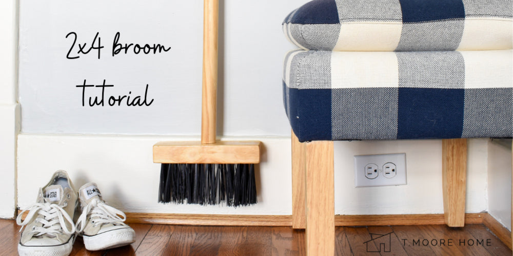 DIY a Modern Wood Broom from a 2x4: Upcycling A Broken Broom Into Functional Art