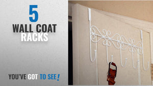 Top 10 Wall Coat Racks [2018]: Over Door Hooks 5 Hooks Coat Clothes Storage Rack Wall Hanger (Style ...