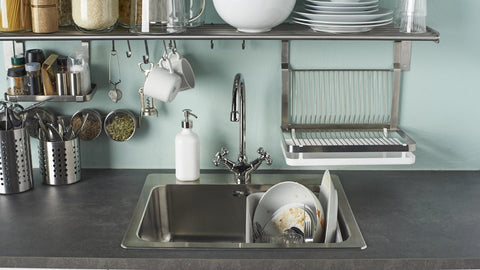 Racks, hooks, shelves, drainers and other accessories can help your sink to stay neater, cleaner and more hygienic