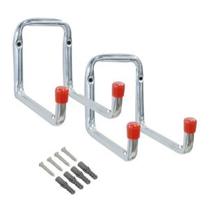 2 x Heavy Duty Double Arm Metal Storage Hooks<br><br>