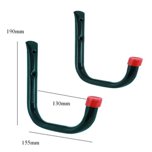 2 x Heavy Duty Storage Hooks Wall Mounted Ladder Garage
