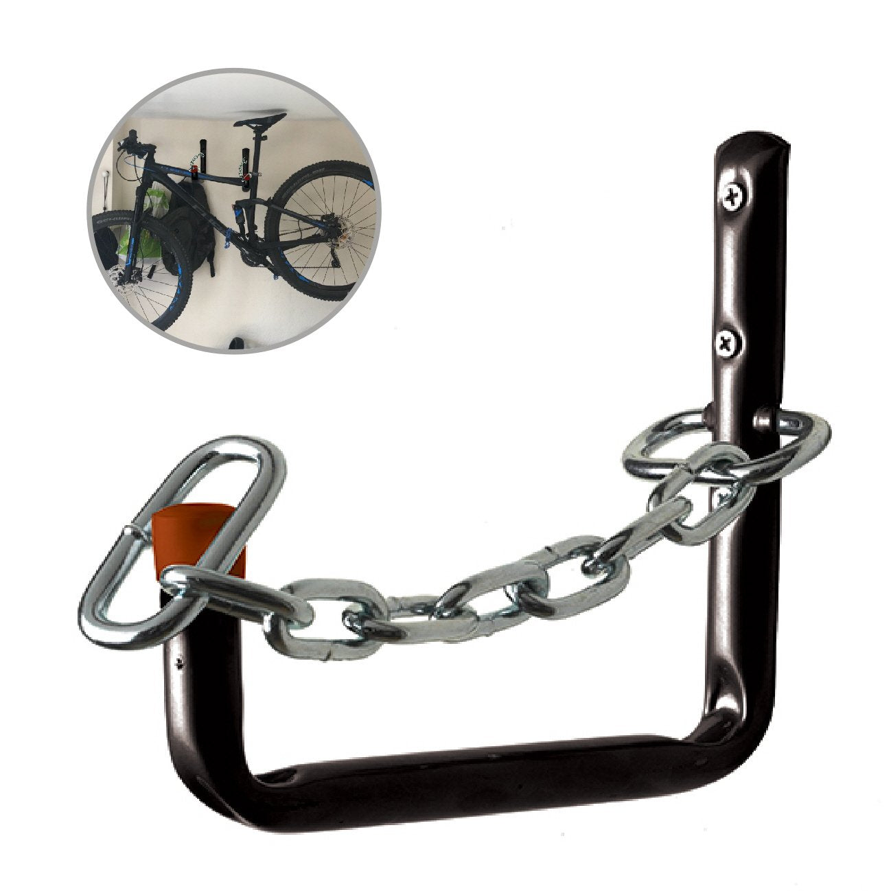 Lockable 210mm Storage Hook, Wall Mounted for Ladders & Bikes