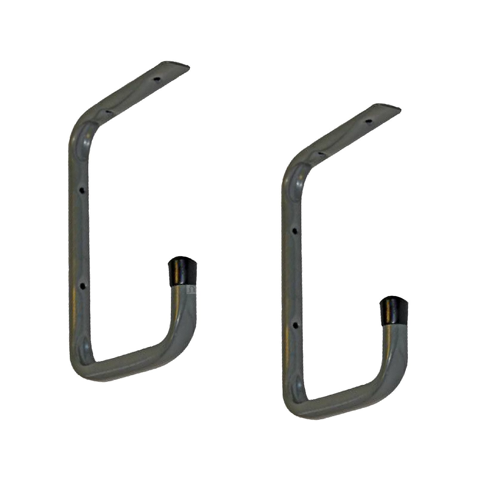 2 x Wall Mounted or Under Shelf 240mm Storage Hooks<br><br>