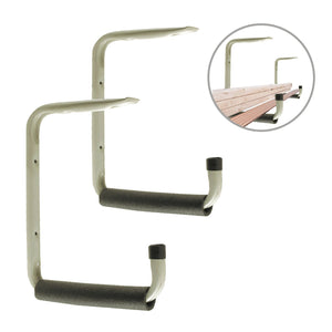 2 x Giant Heavy Duty 415mm Wall & Ceiling Mounted Storage Hooks