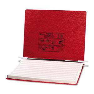 "ACCO PRESSTEX Covers with Storage Hooks, 2 Posts, 6"" Capacity, 14.88 x 11, Executive Red"