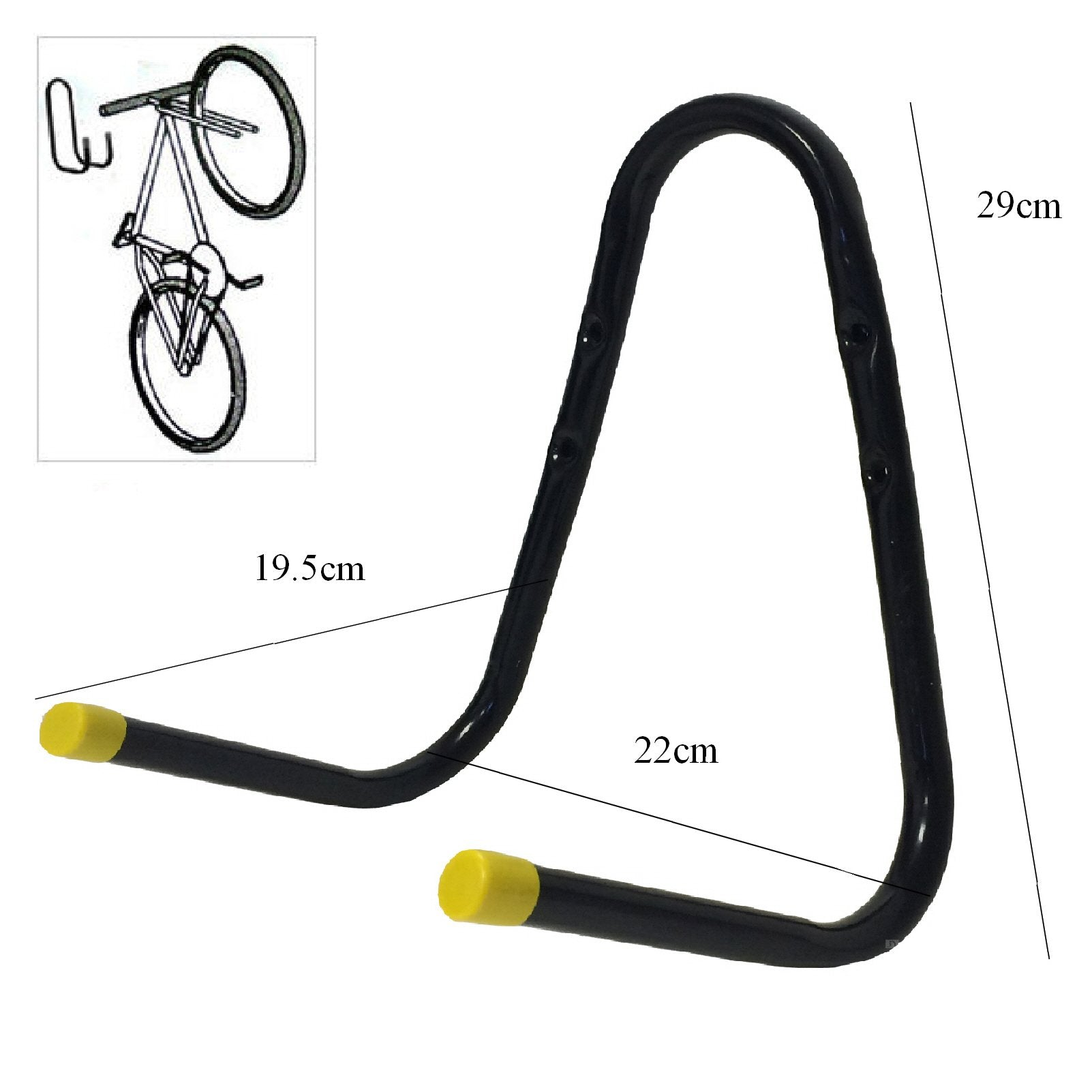 Large Double Bike Storage Hook Wall Mounted Bracket<br><br>