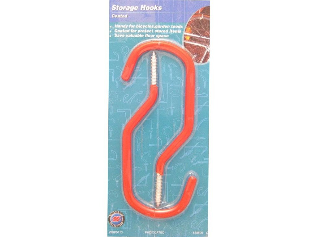 Bicycle Storage Hooks PVC Coated Pack of 2