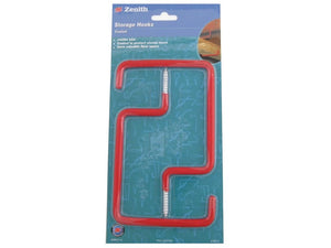Jumbo Storage Hooks PVC Coated Pack of 2