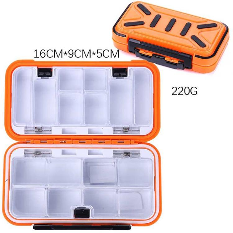 HENGJIA qt020 Waterproof Multifunction Fishing Tool Gear Storage Hooks and Fishing Bait Box , M Size: 16 x 9 x 5cm