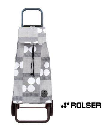 Rolser Shopping Trolley- Grey Dots