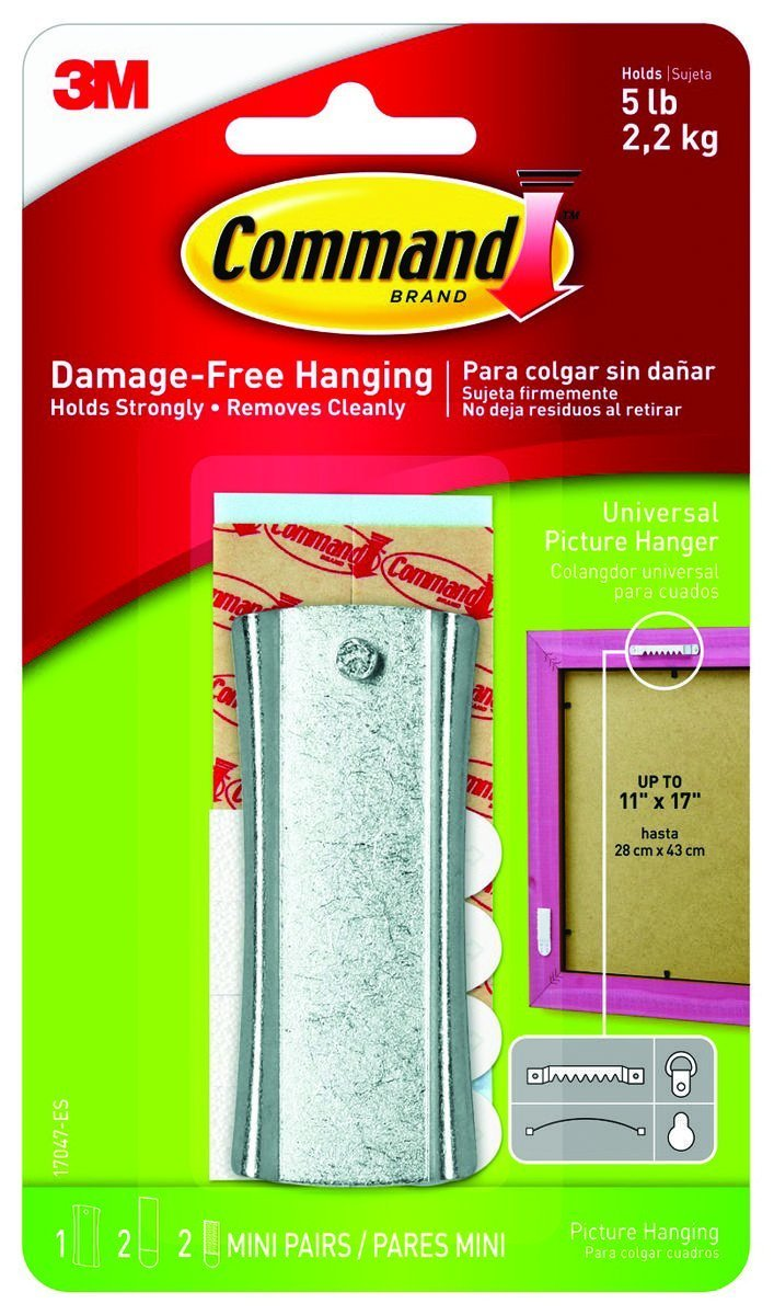 Command Strips 17047 Large Command Sawtooth Sticky Nail Hanger
