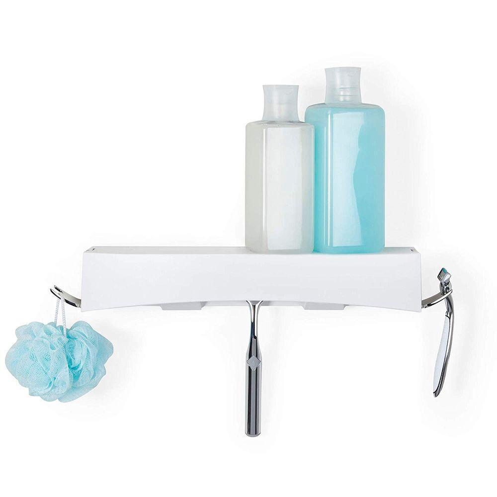 Clever Flip Shower Shelf White