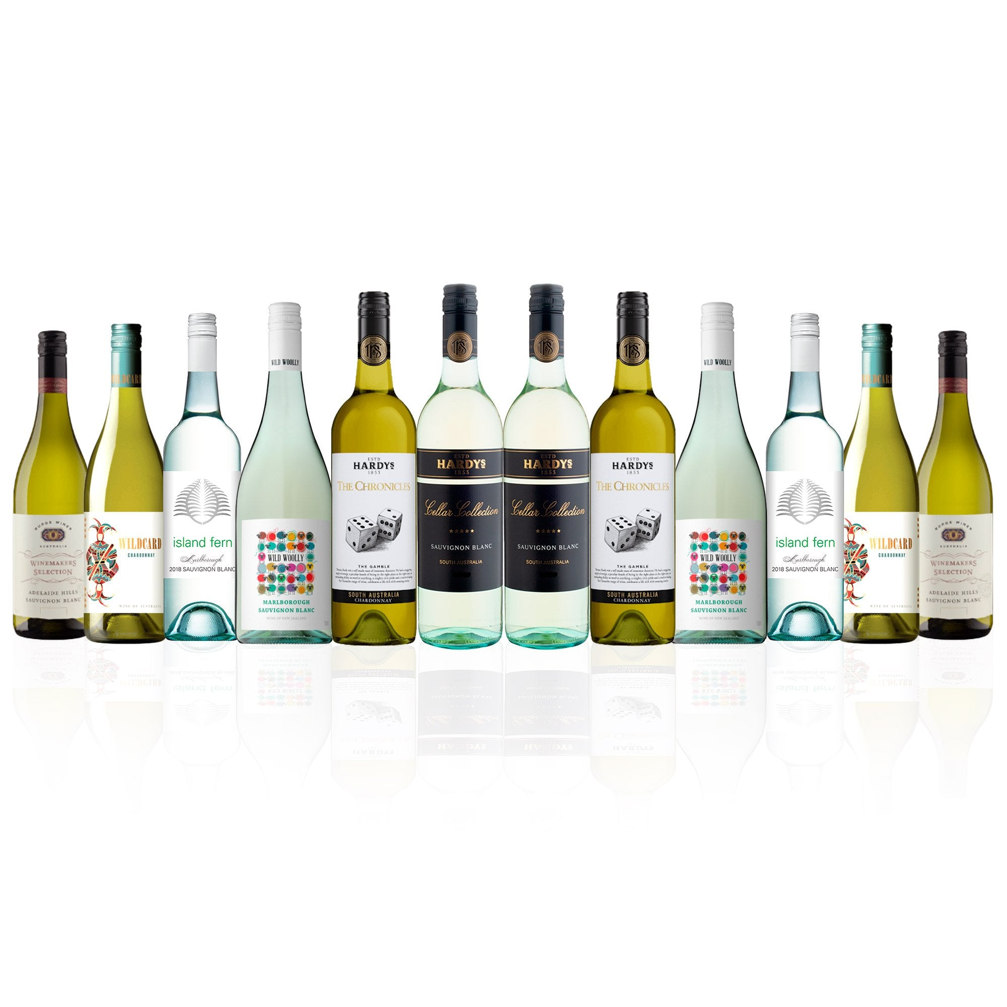 Premium Mixed White Wine Dozen 2.0 (12 Bottles)