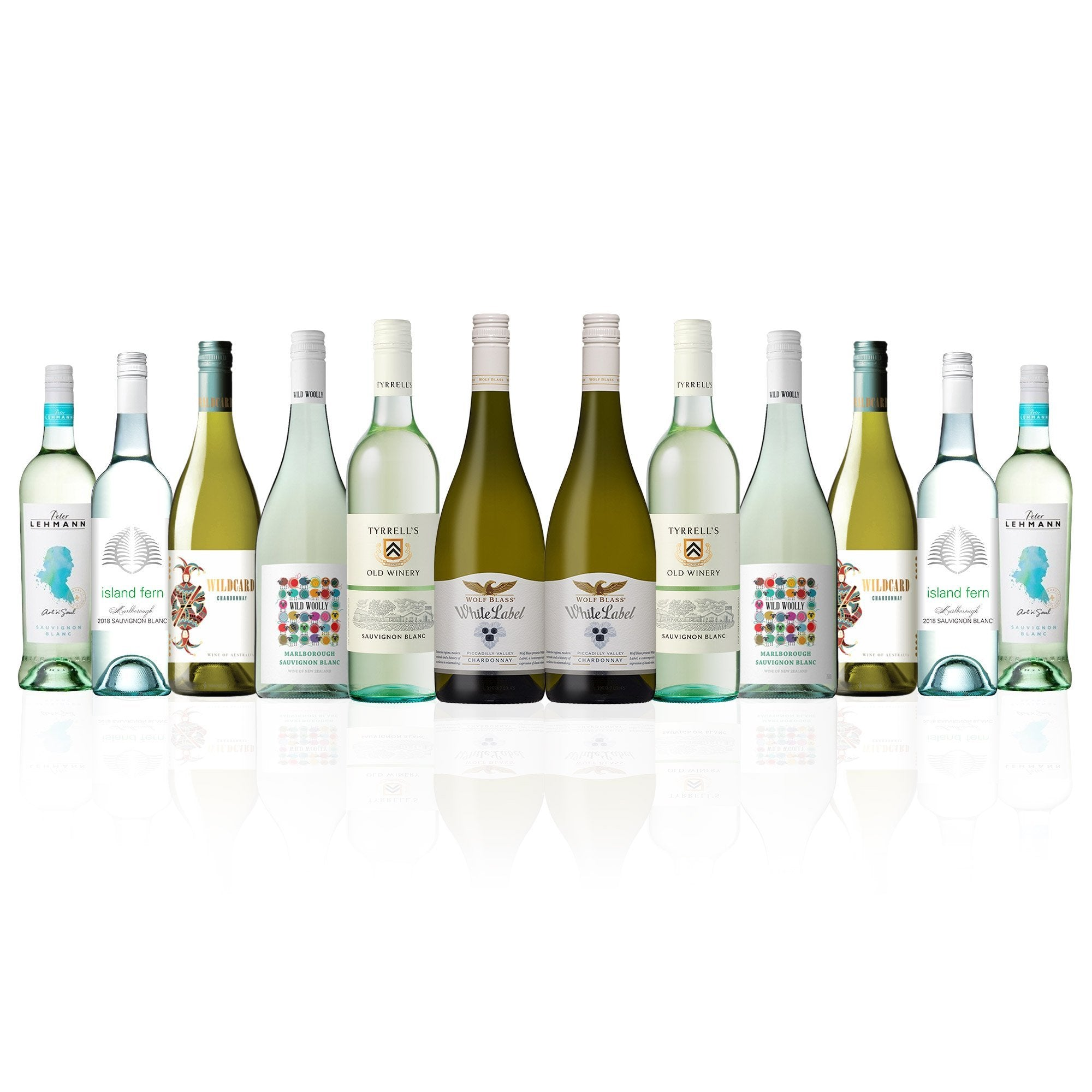 Premium Mixed White Wine Dozen (12 Bottles)