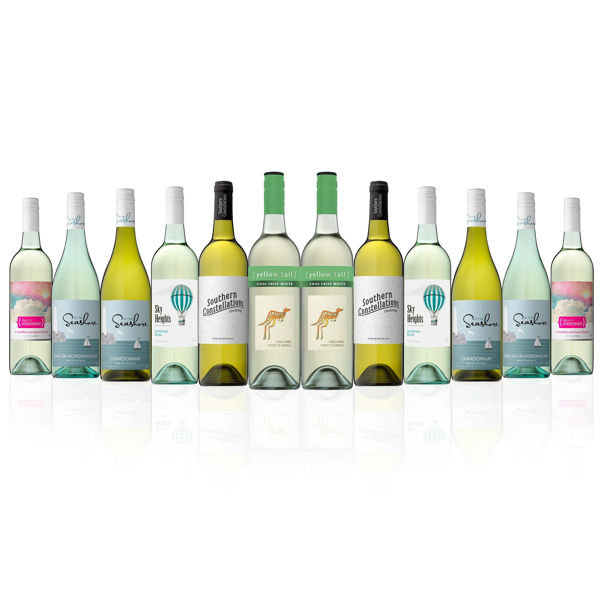 Mixed White featuring Yellow Tail Cool Crisp White (12 Bottles)