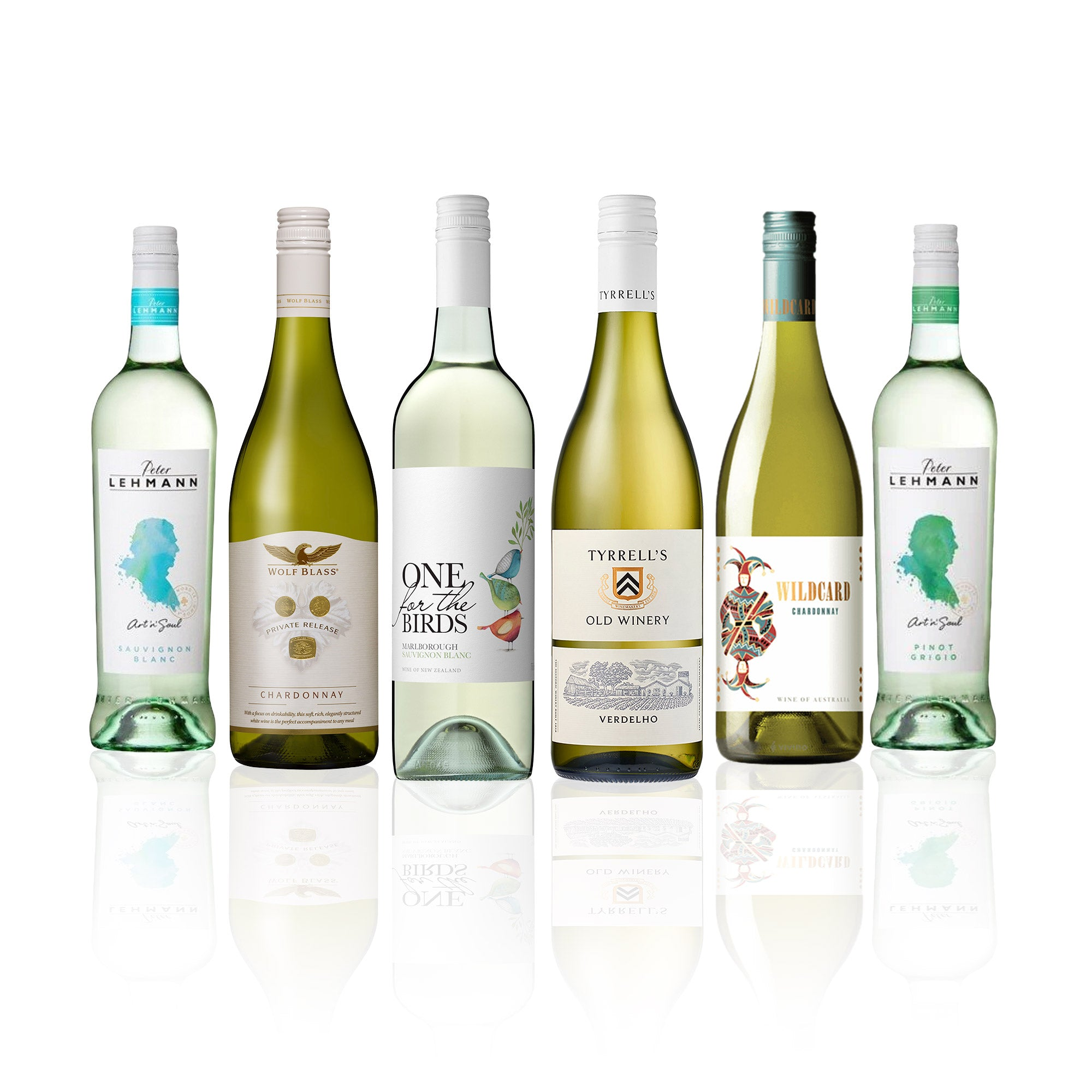 Premium Mixed White Wine Case (6 Bottles)