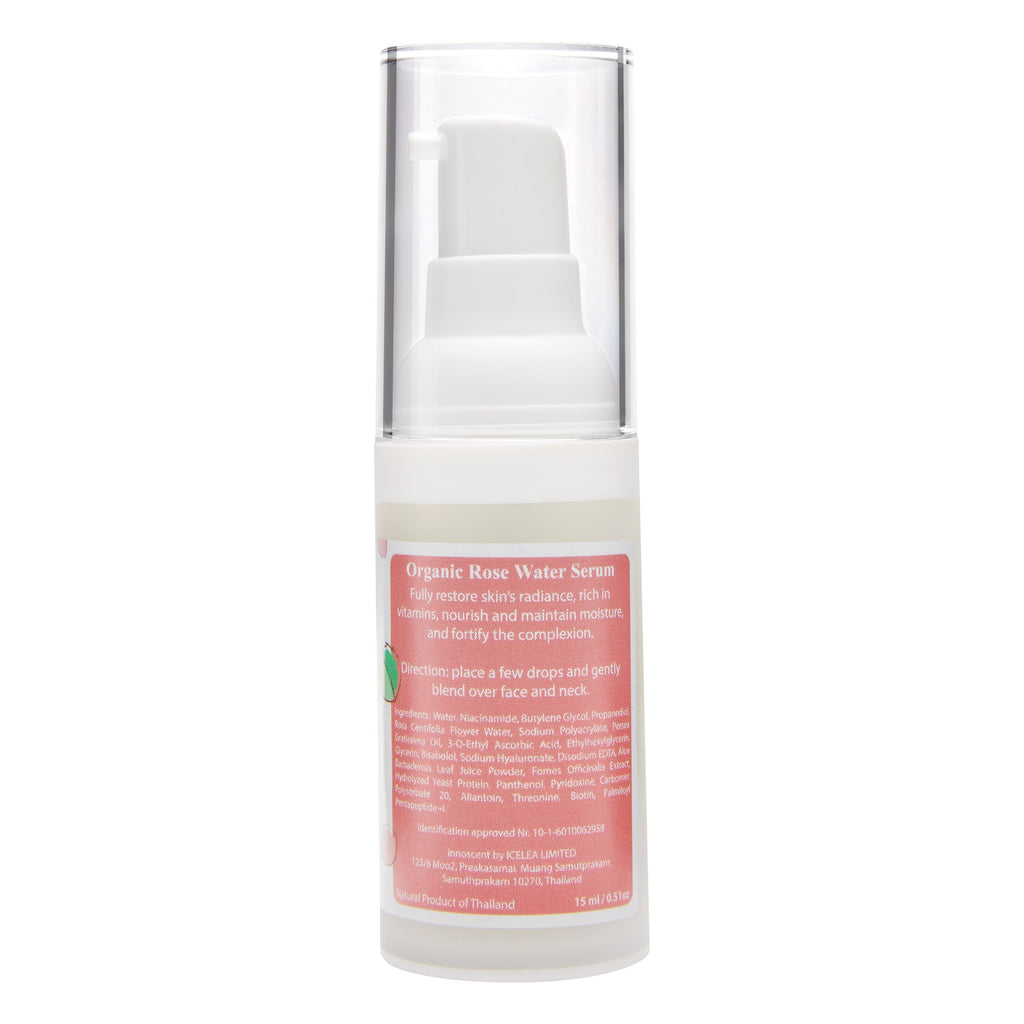 Organic Rose Water Facial Serum back view