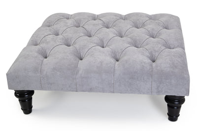 Hampton Chesterfield Upholstered Footstool / Coffee Table