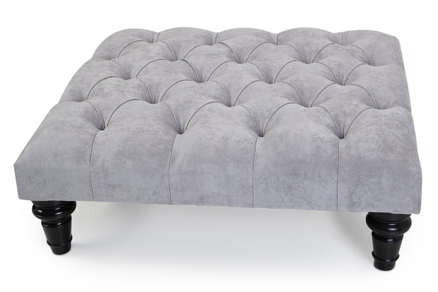 Hampton Chesterfield Upholstered Footstool Coffee Table