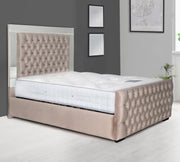 Reflection Mirror Upholstered Bed Frame