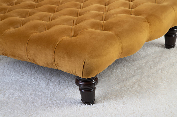 Chesterfield Upholstered Footstool / Coffee Table