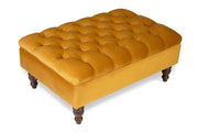 Nola Chesterfield Upholstered Footstool / Coffee Table