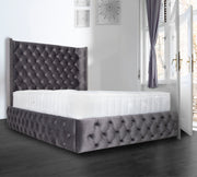 Emperor Winged Chesterfield Upholstered Bed Frame