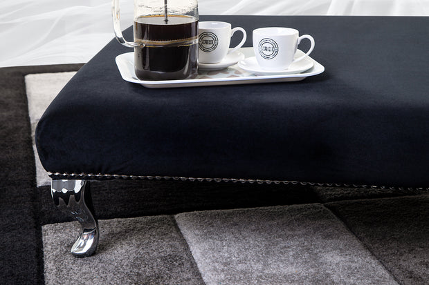 Glamour Upholstered Footstool / Coffee Table