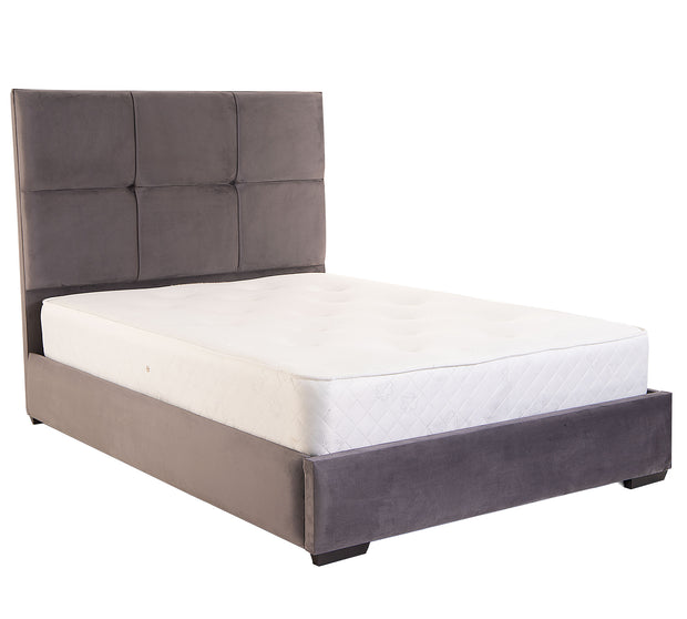 Boxy Upholstered Bed Frame