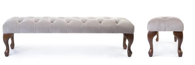 Camille Chesterfield Upholstered Bench / Footstool