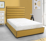 Linear Upholstered Bed Frame