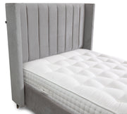Cassini Winged Linear Upholstered Bed Frame